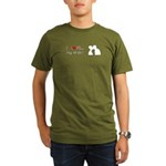 I Love My Wife Organic Men's T-Shirt (dark)