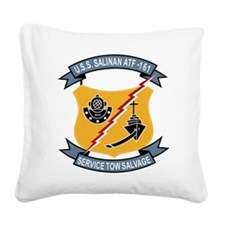 ATF-161 USS Salinan Military Square Canvas Pillow