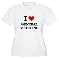 I Love General Medicine Plus Size T-Shirt