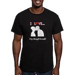 I Love My Boyfriend Men's Fitted T-Shirt (dark)