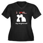 I Love My Bo Women's Plus Size V-Neck Dark T-Shirt