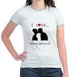 I Love My Boyfriend Jr. Ringer T-Shirt