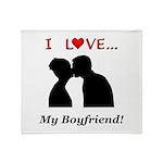 I Love My Boyfriend Throw Blanket