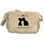I Love My Boyfriend Messenger Bag
