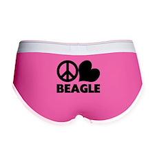 FIN-peace-love-beagle.png Women's Boy Brief