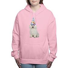Bichon Frise Party Women's Hooded Sweatshirt