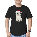 Bichon Frise Christmas Men's Fitted T-Shirt (dark)