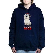 Nice Bichon Frise Women's Hooded Sweatshirt