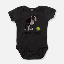 Boston Terrier Life Baby Bodysuit