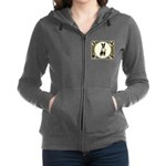 Boston Terrier Collage Women's Zip Hoodie