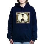 Boston Terrier Collage Women's Hooded Sweatshirt