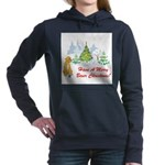 FIN-christmas-boxer... Women's Hooded Sweatshirt