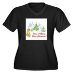 FIN-christmas-boxer... Women's Plus Size V-Neck Da