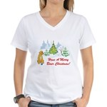 FIN-christmas-boxer... Women's V-Neck T-Shirt