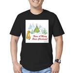 FIN-christmas-boxer... Men's Fitted T-Shirt (dark)