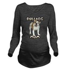 Bulldog Mom Long Sleeve Maternity T-Shirt