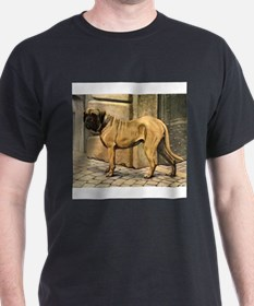 bullmastiff illustration-10x10-100px.png T-Shirt