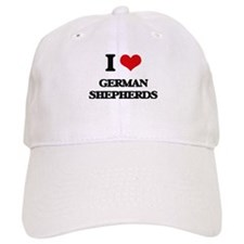 I Love German Shepherds Baseball Cap
