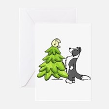Cool Border collie christmas Greeting Cards (Pk of 20)