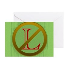 No L Greeting Cards (Pk of 10)