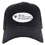 DEAR LORD SAYING (BLACK LAB LOOK) Black Cap