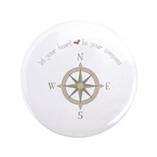 """Heart Your Compass 3.5"""" Button"""