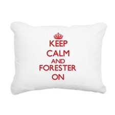 Keep Calm and Forester O Rectangular Canvas Pillow