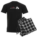 I Love My Girlfriend Men's Dark Pajamas