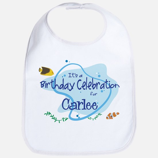 Celebration for Carlee (fish) Bib