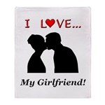 I Love My Girlfriend Throw Blanket