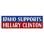 Idaho Supports Hillary Clinton Bumper Sticker