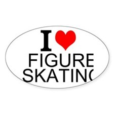 I Love Figure Skating Decal