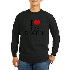 I Love Ice Skating Long Sleeve T-Shirt