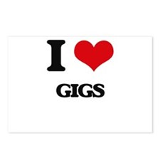 I Love Gigs Postcards (Package of 8)