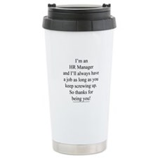 Funny Hr manager Travel Mug
