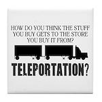 Teleportation Truck Driver Tile Coaster