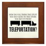 Teleportation Truck Driver Framed Tile