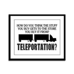Teleportation Truck Driver Framed Panel Print