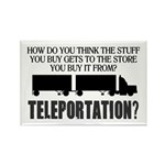 Teleportation Truck Dr Rectangle Magnet (100 pack)