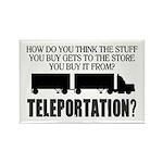 Teleportation Truck Driver Rectangle Magnet