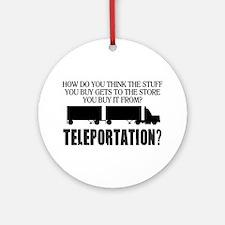 Teleportation Truck Driver Ornament (Round)