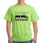 Teleportation Truck Driver Green T-Shirt