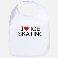 I Love Ice Skating Bib