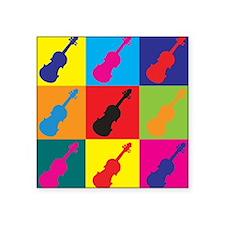 """Unique Violin humor Square Sticker 3"""" x 3"""""""