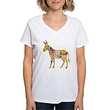 Donkey Womens V-Neck T-shirts