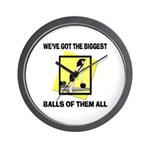 Biggest Balls Bowling Wall Clock