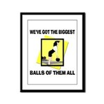 Biggest Balls Bowling Framed Panel Print