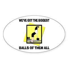 Biggest Balls Bowling Oval Decal