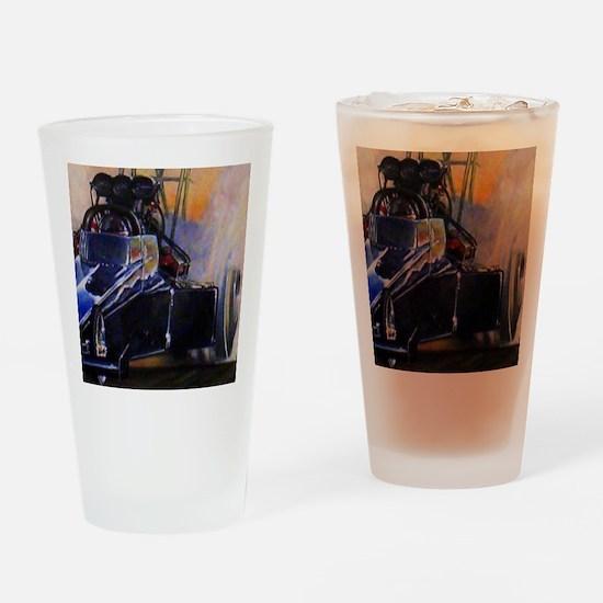 Auto Racing Drinking Glass