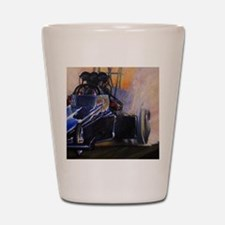 Auto Racing Shot Glass